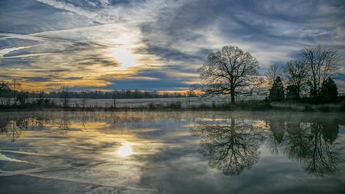 park reflection clouds sunrise memphis tennessee shelbyfarms canon6d