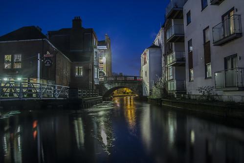 longexposure night canal canals nighttime berkshire newbury