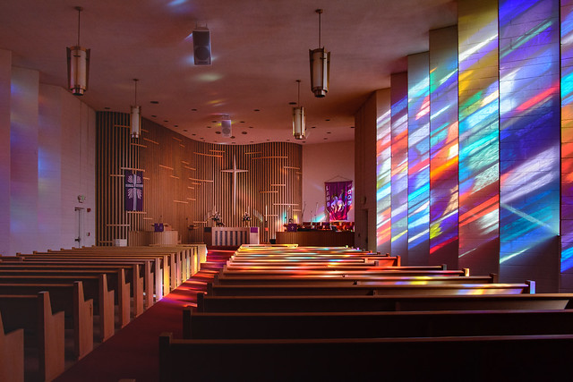 Light Spills into the Sanctuary at First English Lutheran Church