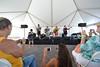 Award-winning musician Robi Kahakalau and the Keawe Trio perform at Hawai'i Communiy College – Palamanui's Open House and Grand Opening Celebration as Hawaii CC – Palamanui Hawaiian Studies instructor Ka'ea Lyons dances hula.