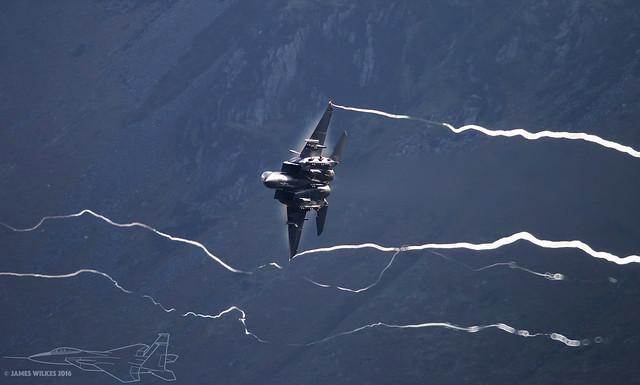 F15 'Mad Flight' making it's way through 'Bwlch' in the Mach Loop 10/03/2016