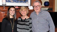 Nancy and Gerry Patterson with their granddaughter Torrey. Torrey is a junior at Millwood HS and was the server for the evening's dinner.