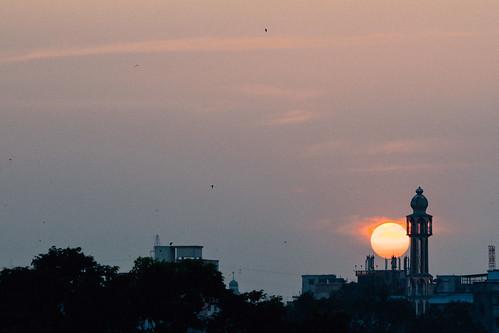 old sunset digital nikon dusk dhaka bangladesh masjid buet azan minerat dhakadivision polashi sheikhshahriarahmed