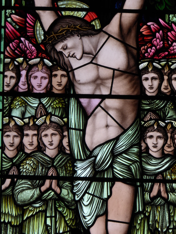 Burne-Jones windows in Speldhurst church Ashurst to Eridge walk