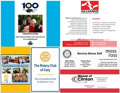 The district conference is a major production. Without our sponsors, it couldn't take place. Please take time to thank them for their sponsorship and consider doing business with them next time you need a service they provide. Many of them are your fellow Rotarians.