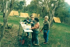 1st Gawler Scout Camp 1989 - Mark Cooper centre