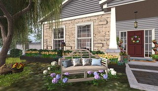 Bee Designs -Le Jardin Bench (H&G Expo 2016) | by Hidden Gems in Second Life (Interior Designer)
