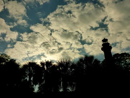 lighthouse clouds atlanticocean adamhall huntingisland seaislands trackhead trackheadstudios trackheadxxx