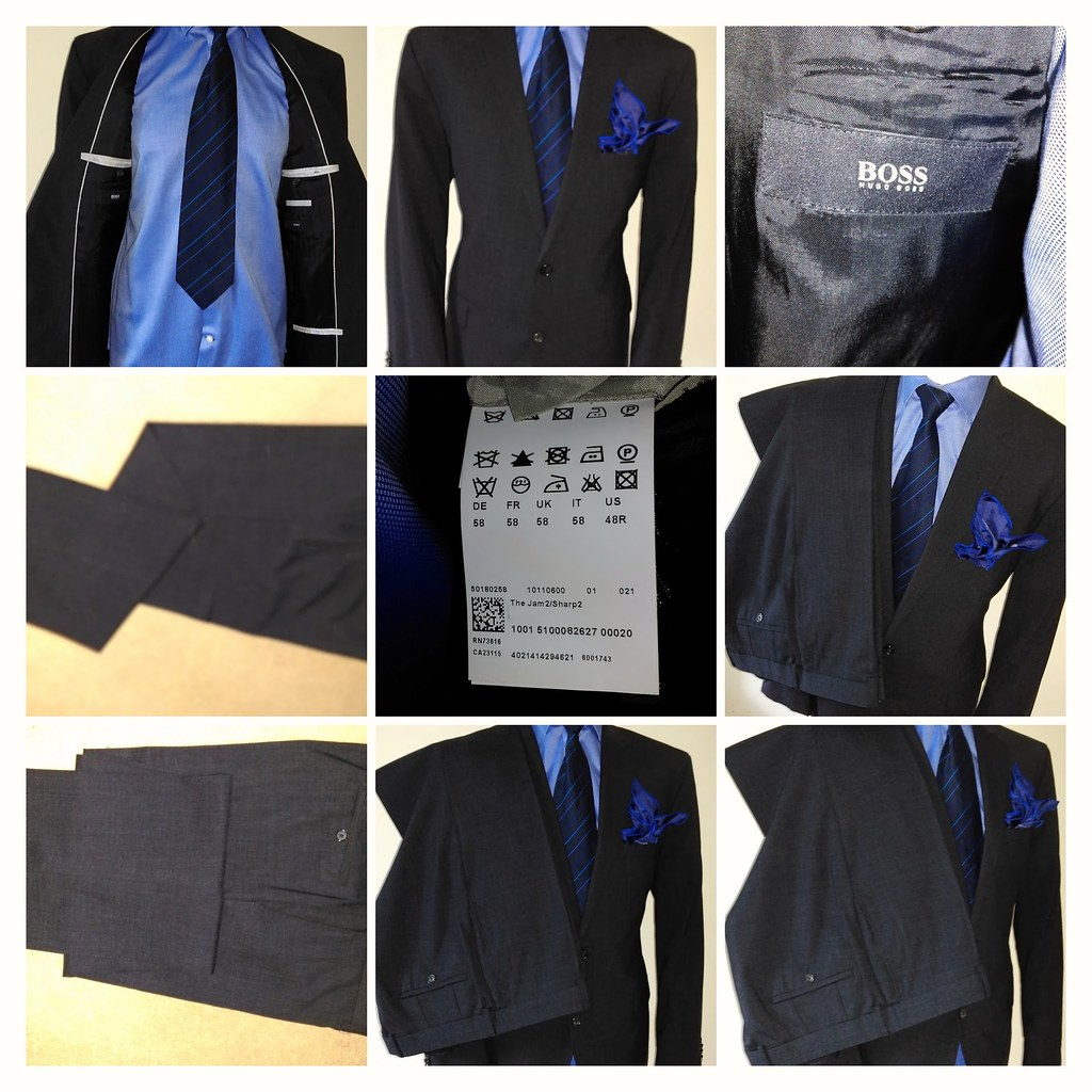 Einzelhandelspreise Temperament Schuhe toller Wert 89.99 Mens HUGO BOSS Jam/Sharp Charcoal 2 Piece Suit 48R ...