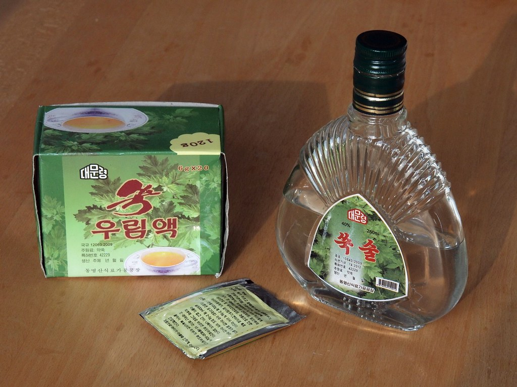 Souvenirs from Rason | mugwort tea and mugwort liquor | Moravius