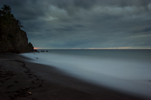 montserrat smcpentaxda1645mmf4edal pentaxk5 hitech85prostop10stop hitechfilters nd1000 10stop milky beach water sand clouds caribbean ocean sunset long exposure lmekilnbay overcast