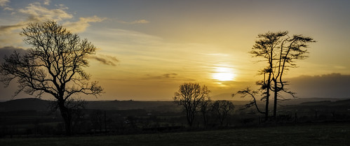 sunset criffel ecclefechan