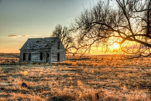 sunset house abandoned oklahoma unitedstates sony hdr gage a99