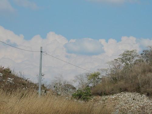 Onderweg naar Chiapas - blauwe wolk