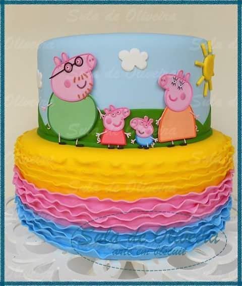 Bolo Cenografico Familia Peppa Pig Para A Ana Julia Mam Flickr