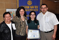 2nd place winner Amanda Chacon poses with her family: Grandmother Yolanda, mom Andrea and dad Osman.