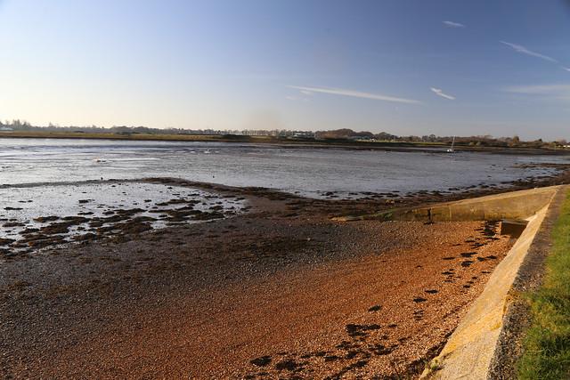 The coast of Hayling Island near Tye