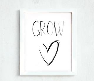 Printable - Grow heart  8 10 | by Dina Argov