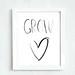 Printable - Grow heart  8 10