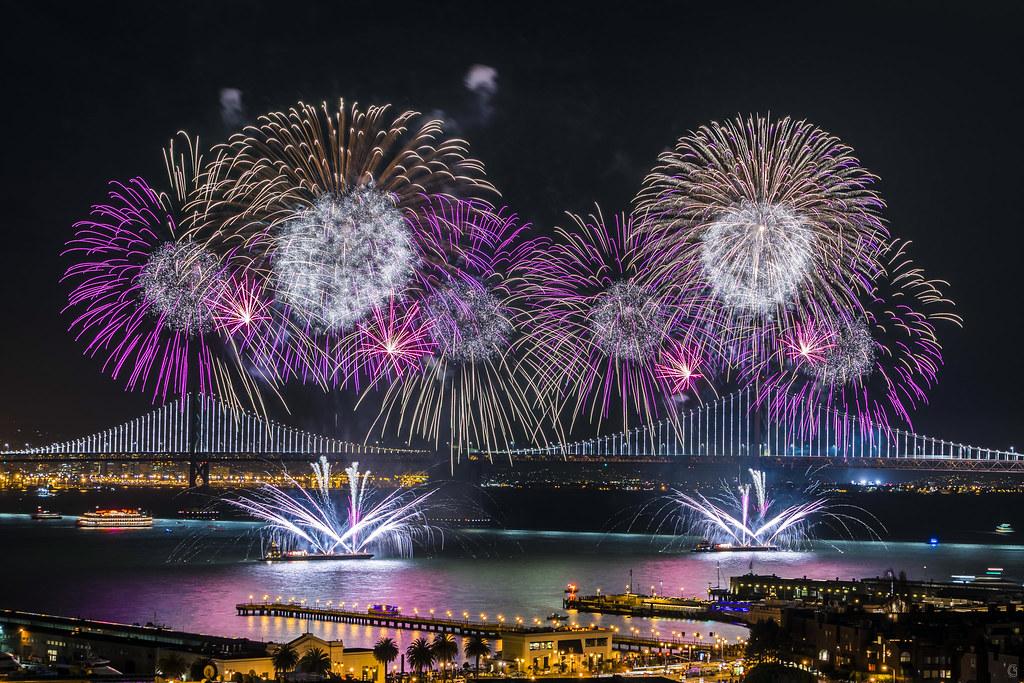 Super Bowl 50 Fireworks   1-30-2016   alittlegordie   Flickr
