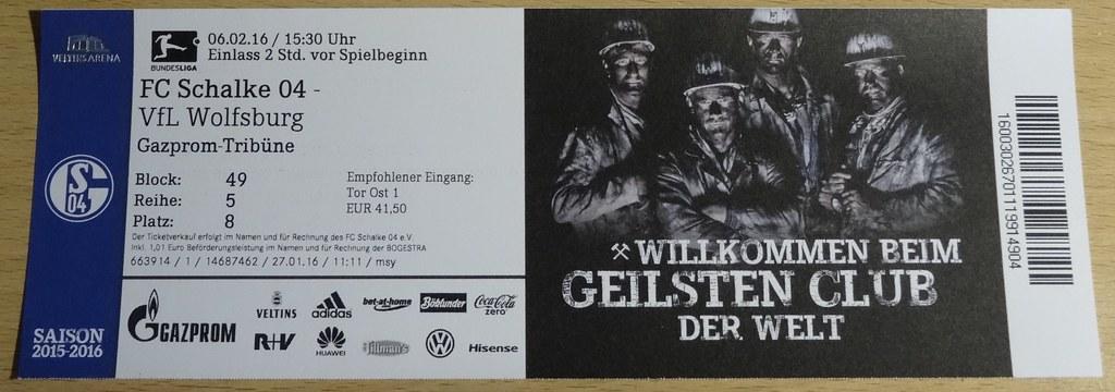 Wolfsburg Schalke Tickets