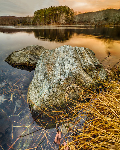 city morning winter lake newyork reflection nature water rock contrast sunrise landscape dawn us unitedstates harriman 2016 southfields harrimanstatepark harrimanpark lakekanawauke nikhdrefexpro