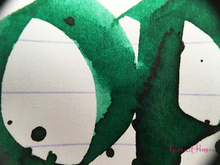 Ink Shot Review Diamine 150th Anniversary Tropical Green (8) | by GourmetPens