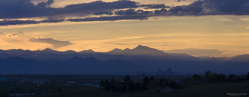 county sunset sky mountains color skyline clouds evening colorado long rocky peak front denver douglas range parker