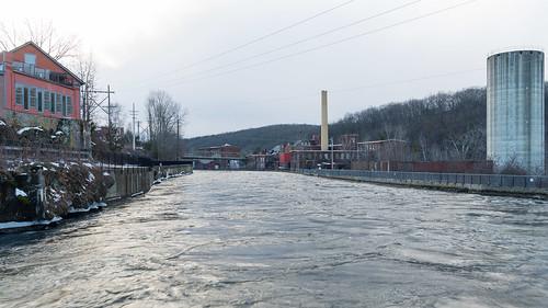 winter mill water canal massachusetts newengland industriallandscape turnersfalls montague