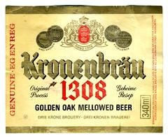 1981 Kronenbrau 1308 Label SADF