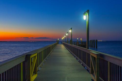 ocean summer evening pier