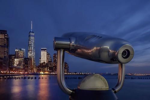 hispy travel nikond5300 manhattan longexposure blue river wtc cityscape newyork architecture sky building machines city nyc street viewingmachines viewing