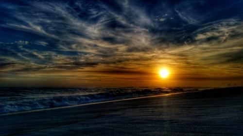 ocean sunset sun beach water clouds sand surf florida hdr cloudporn pensacola galaxys5