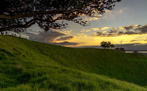 light sunset sky color clouds landscape volcano twilight