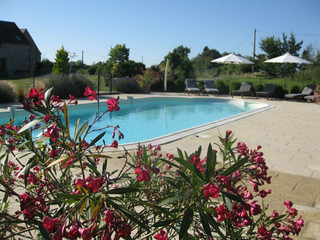 The pool is large enough for swimming and games or just relaxing | by Les Petites Cigognes
