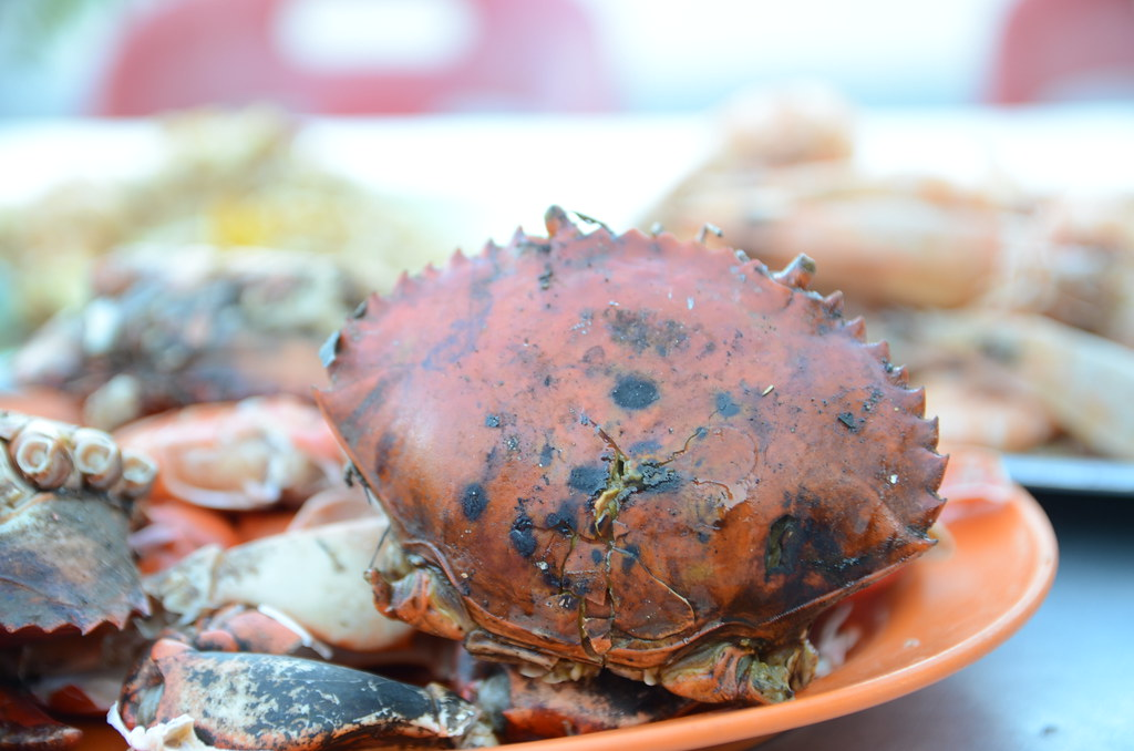 Shell - Charcoal grilled crabs - Pearl Garden Cafe, Tanjon