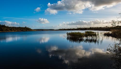 sky lake reflection landscape bluesky