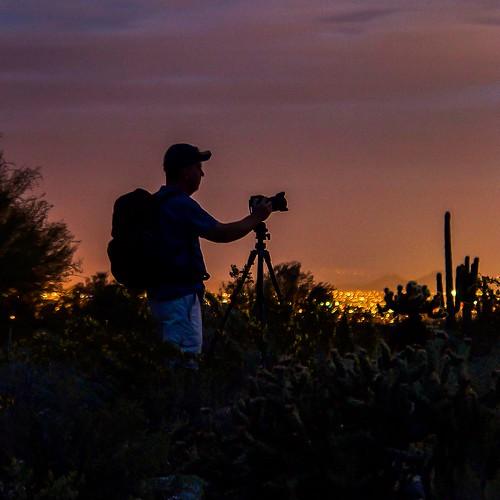 arizona nature landscape photographer desert citylights silohuette naturephotography landscapephotography saguare