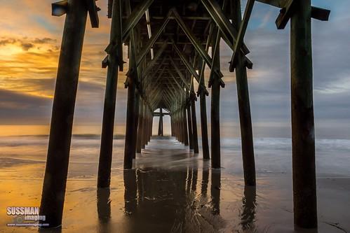 wood longexposure sky beach nature water clouds sunrise myrtlebeach pier southcarolina atlanticocean slowshutterspeed georgetowncounty horrycounty thesussman sonyslta77 sussmanimaging