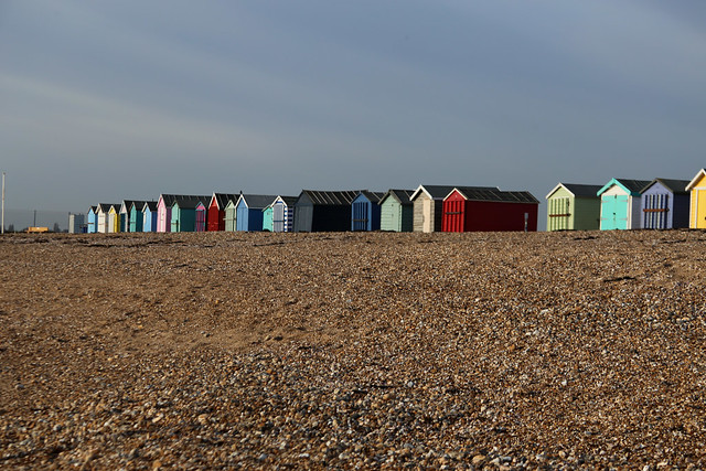 The south coast of Hayling Island