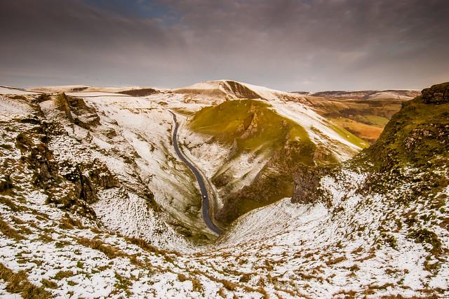 Winnat's Pass in the Snow