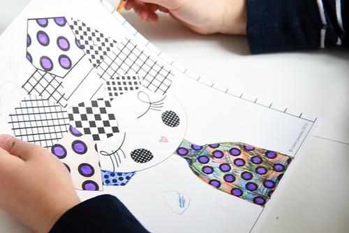 free colouring sheet   by Paul+Paula