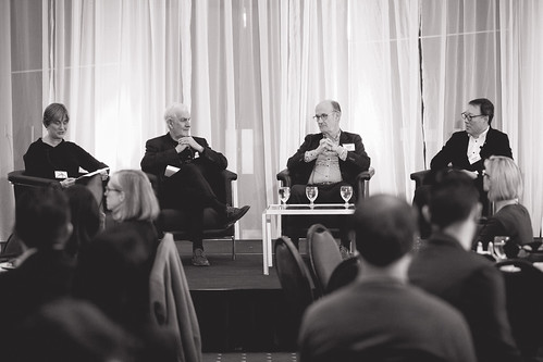 On February, 26, 2016 the Urban Development Institute hosted the first ever Legends of Architecture luncheon. This even was organized and presented by the U40 committee. The legends comprised of James Cheng, Richard Henriquez, and Joost Bakker. The panel discussion was moderated by Leslie Van Duzer.  Photos by Ryan Broda Photography. www.brodaphotography.com
