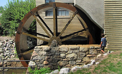 Water wheel on Henry Ford's Village Industry in Northville, Mi.