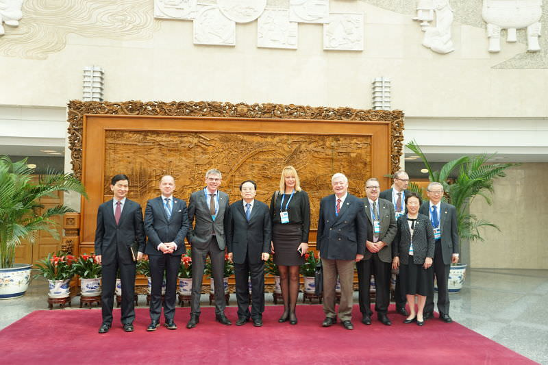 Bruno Gollnisch en Chine - Meeting at Ministry of Foreign Affairs
