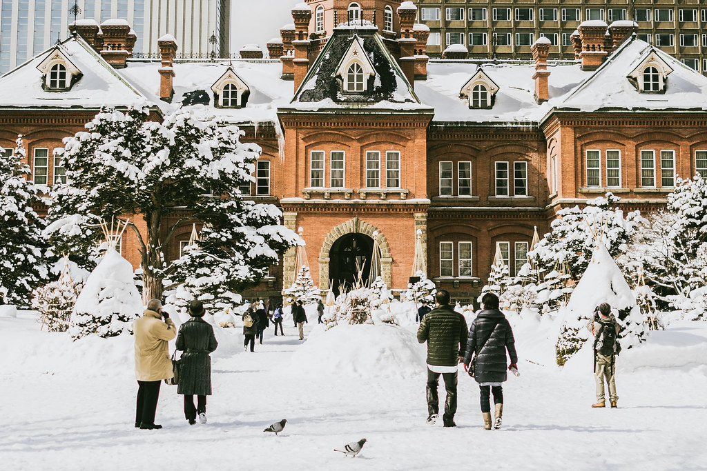 Snow in Sapporo