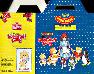 Set of Wendy/'s Good Stuff Gang New in Package Stickers 3 Sheets 1984 Penguin Cat