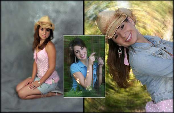 Unique Senior Portrait Collage - San Antono TX