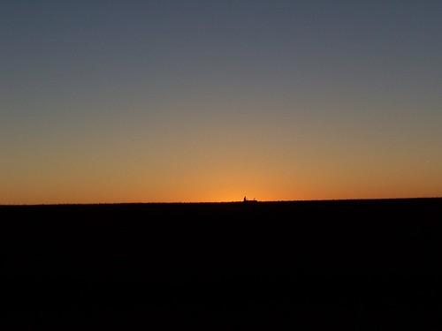 sunset sky tractor dusk farmer agriculture rakinghay