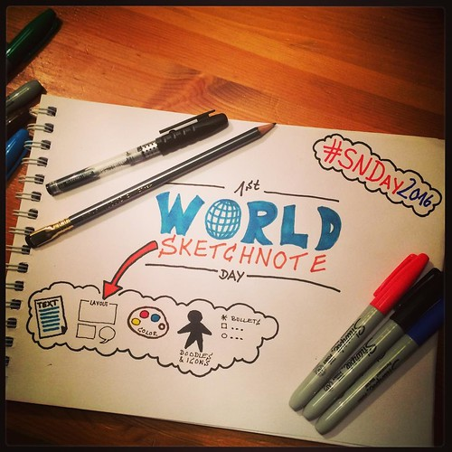 We celebrate the 1st World #Sketchnote Day :-) #SNDay2016